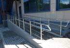 Перила на пандус для инвалидов из нержавеющей стали
