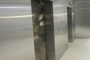 Облицовка стен нержавеющей сталью фото