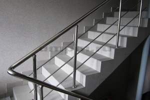 Перила из нержавеющей стали для лестниц с ригелями