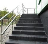 ограждение из нержавейки для лестницы