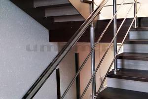 Ограждения из нержавеющей стали для лестниц фото