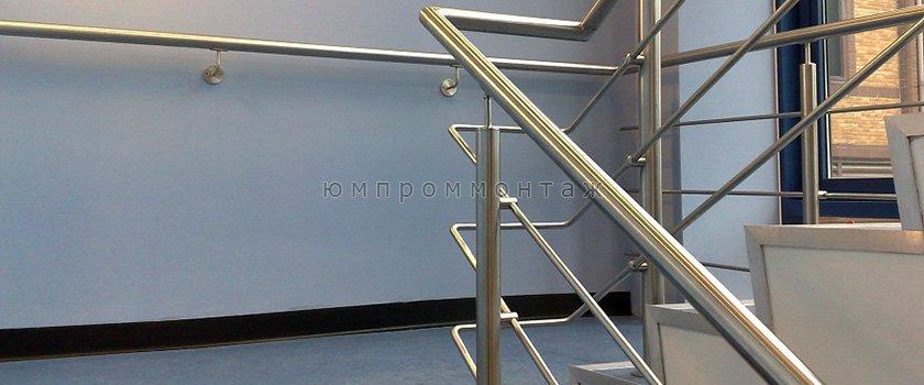 Ограждения лестниц из нержавеющей стали с ригелями