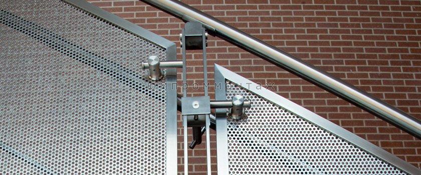 Эксклюзивные ограждения из нержавейки для лестниц