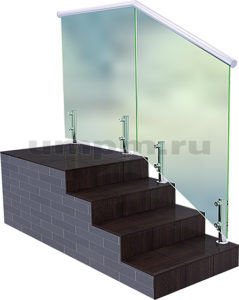 Перила для лестницы из стекла