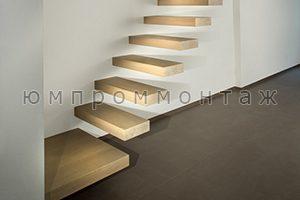 встроенная в стену лестница фото