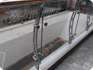 Перила из стекла нержавеющей стали