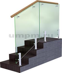 Стеклянные перила для лестниц цена