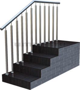 Цена на ограждения из нержавеющей стали для лестниц