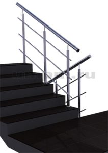 Нержавеющие перила для лестниц без завязки на маршах