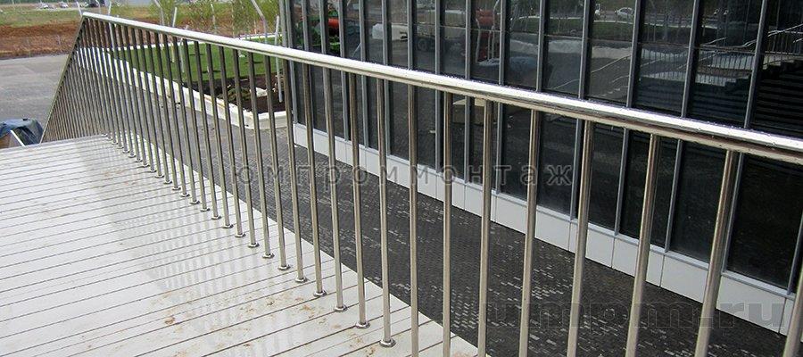 Нержавеющие ограждения лестниц
