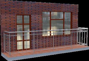 Ограждения балконов из нержавеющей стали с вертикальным заполнением