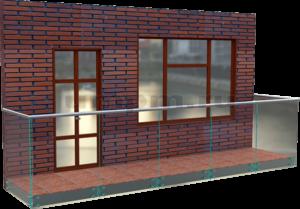 Стеклянные ограждения для балконов на точечном крепление
