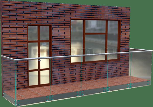 Стеклянные ограждения для балконов.