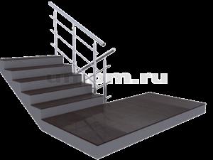 Лестничные ограждения из нержавеющей стали с разомкнутыми поворотами