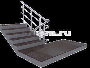 Лестничные ограждения из нержавеющей стали ригель и поручень завязан на поворотах