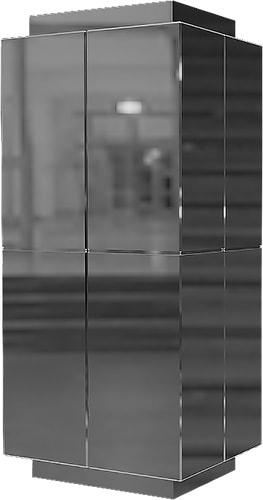 Облицовка квадратных колонн нержавейкой