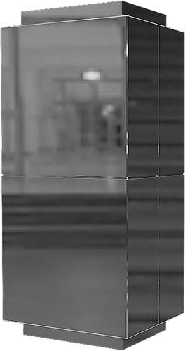 Облицовка прямоугольных колонн нержавеющей сталью