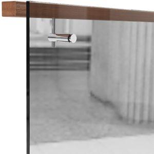 Прямоугольный поручень для стекла, крепление сверху