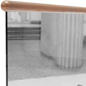 Круглый деревянные поручень для стеклянных ограждений крепление сверху