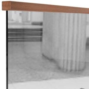 Прямоугольный поручень для стеклянных ограждений