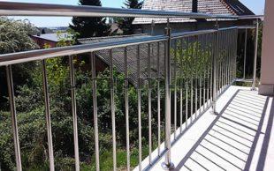 """Перила на балкон из нержавеющей стали """"частокол"""""""