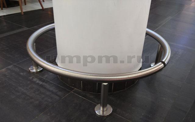 Колесоотбойник из нержавеющей стали для круглых колонн