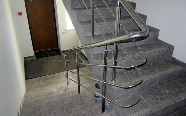 ригельное ограждения из нержавеющей стали для лестниц