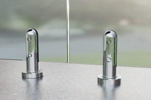 Круглая министойка для стеклянных ограждений