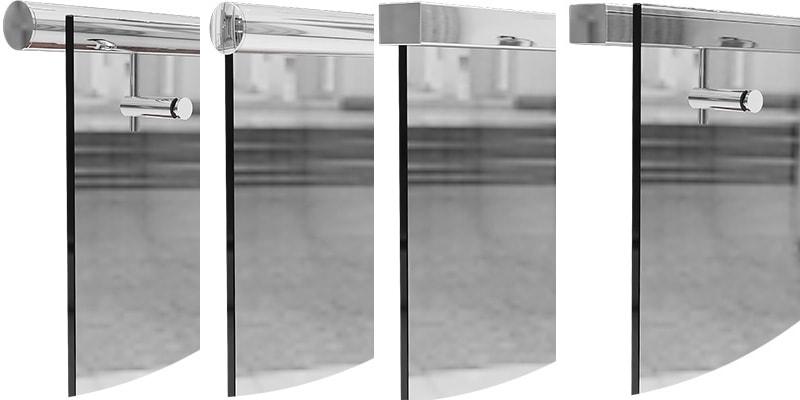 Поручни из нержавеющей стали для стеклянных ограждений
