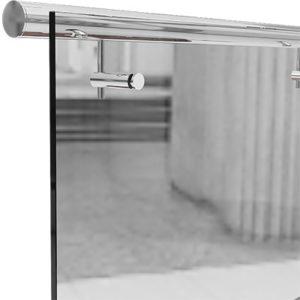 Выносной нержавеющий поручень круглого сечения для стеклянных ограждений