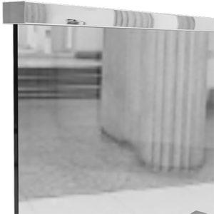 Прямоугольный нержавеющий поручень на стекло