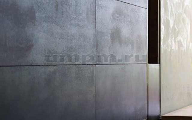 Облицовка стен черным металлом