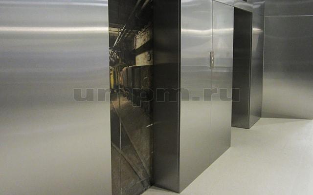 Облицовка стен нержавеющей сталью