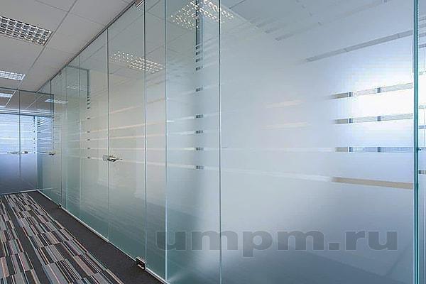 Стеклянные офисные перегородки из сатинированного стекла