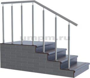 Ограждения из нержавейки для деревянных лестниц