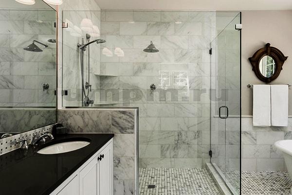 Стеклянные душевые перегородки в ванной комнате