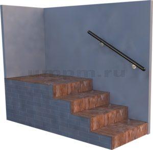 Пристенный деревянный поручень для лестниц