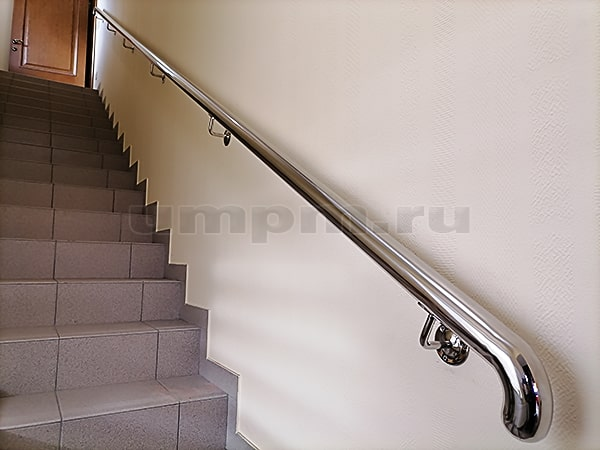 Поручни из нержавеющей стали для лестниц